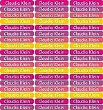 INDIGOS UG® 54 Namensaufkleber/Etiketten Mini - 40x6mm - für Kinder, Schule und Kindergarten -...