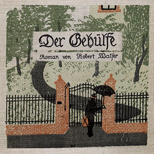 Der Gehülfe audiobook cover art