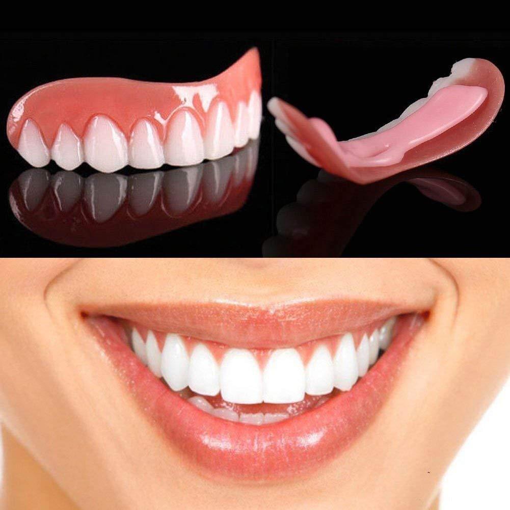 摂氏度自然ヒップ3組の一時的な化粧品の歯の義歯の歯の化粧品によって模倣されるブレース、即刻の快適で完全なベニヤの歯のスナップキャップを白くします