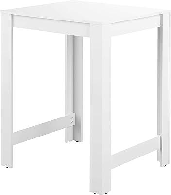 Table Bar Sulens 80, Blanc, 80 x 70 x 102 cm