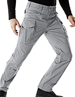 CQR Men's Flex Stretch Tactical Work Outdoor Operator Rip-Stop Trouser Pants EDC