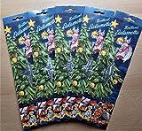 5er Pack Stanniol Lametta Silber 15g Brutto/9g Netto Inhalt: ca. 30 Fäden/Packung, Christbaumschmuck Stanniollametta matt glänzend Weihnachtsdeko Weihnachtsschmuck