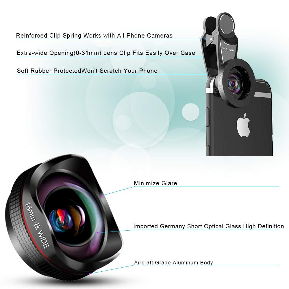 lente de la cámara del teléfono: lente ojo de pez de 198 grados HD ...
