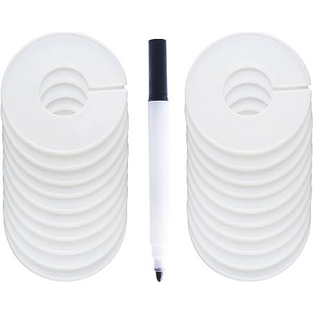 5 PCS Clothing Blank Size Rack Ring Closet Divider Organizer Colorj$MHI
