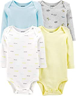 Carter's Baby Boys 4-Pack Long Sleeve Original Bodysuits (Hello)