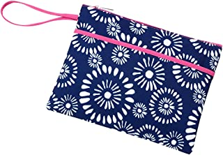 Zip Pouch Wristlet Can be Personalized (Personalized Riley - Pink Trim)
