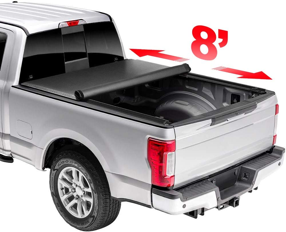 Niviora 8' Soft Rollup Tonneau Cover with 2021 model S Truck Regular store Compatible Bed