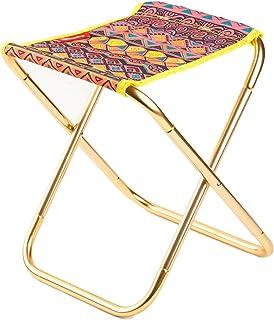 SADVA アウトドアチェア 折りたたみ椅子 超軽量 耐荷重100kg ウルトラライトチェア ポータブル お釣り キャンプ バーベキュー 携帯便利 コンパクト 専用ケース付き (Color : Geometric handle)