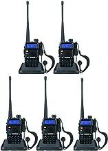 BaoFeng UV-5R Dual Band Walkie Talkie VHF UHF Two Way Radio (5 Pack)