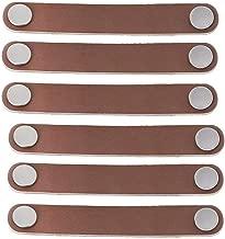 TM FBSHOP 6 PCS PU Tiradores//perillas//tiradores de cuero//para armario Armario Malet/ín Maleta Armario para vino Caja de madera Caja de regalo Caja de zapatos Muebles de hardware