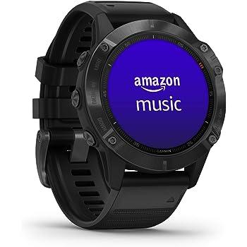 """Garmin Fenix 6 PRO Smartwatch Multisport GPS 47 Millimetri con misurazione della frequenza cardiaca da polso, display da 1,3 """", WiFi, Impermeabile, Nero"""