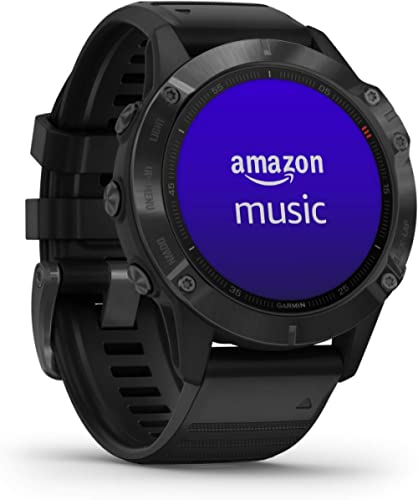 Garmin fēnix 6 Pro, Ultimate Multisport GPS Watch, Features Mapping, Music, Grade-Adjusted Pace Monitoring and Pulse ...