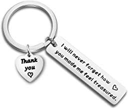 Gzrlyf Teacher Appreciation Keychain Thank You Gifts Retirement Gifts for Teacher School Counselor I Will Never Forget How You Made Me Feel Treasured