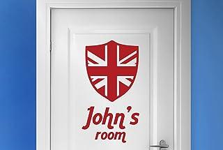 personalizado Escudo Británico Vinilo Decorativo Puerta Pegatinas