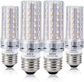E26 LED Bulbs, 12W LED Bulb 100 Watt Equivalent, 1200lm, Decorative Candle Base E26 Corn Non-Dimmable LED Bulbs, Cool White 6000K LED Lamp, Pack of 4
