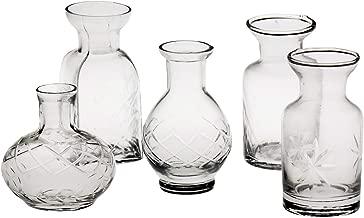 ART & ARTIFACT Petite Glass Bud Vase Set of 5 - Fun Shapes, 2 3/4