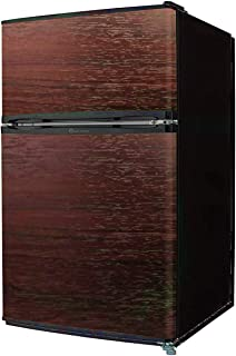 【左右開き対応】TOHOTAIYO 2ドア冷蔵庫 90L TH-90L2 (ダークウッド)