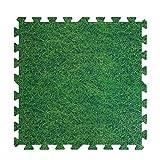 JIAJUAN-alfombra puzzle Los Niños Espuma Azulejos Rompecabezas Esteras Verde 3D Enclavamiento Durable Piso Estera Impermeable Fácil De Limpiar (Color : A, Size : 60x60x1 cm-4 Pcs)