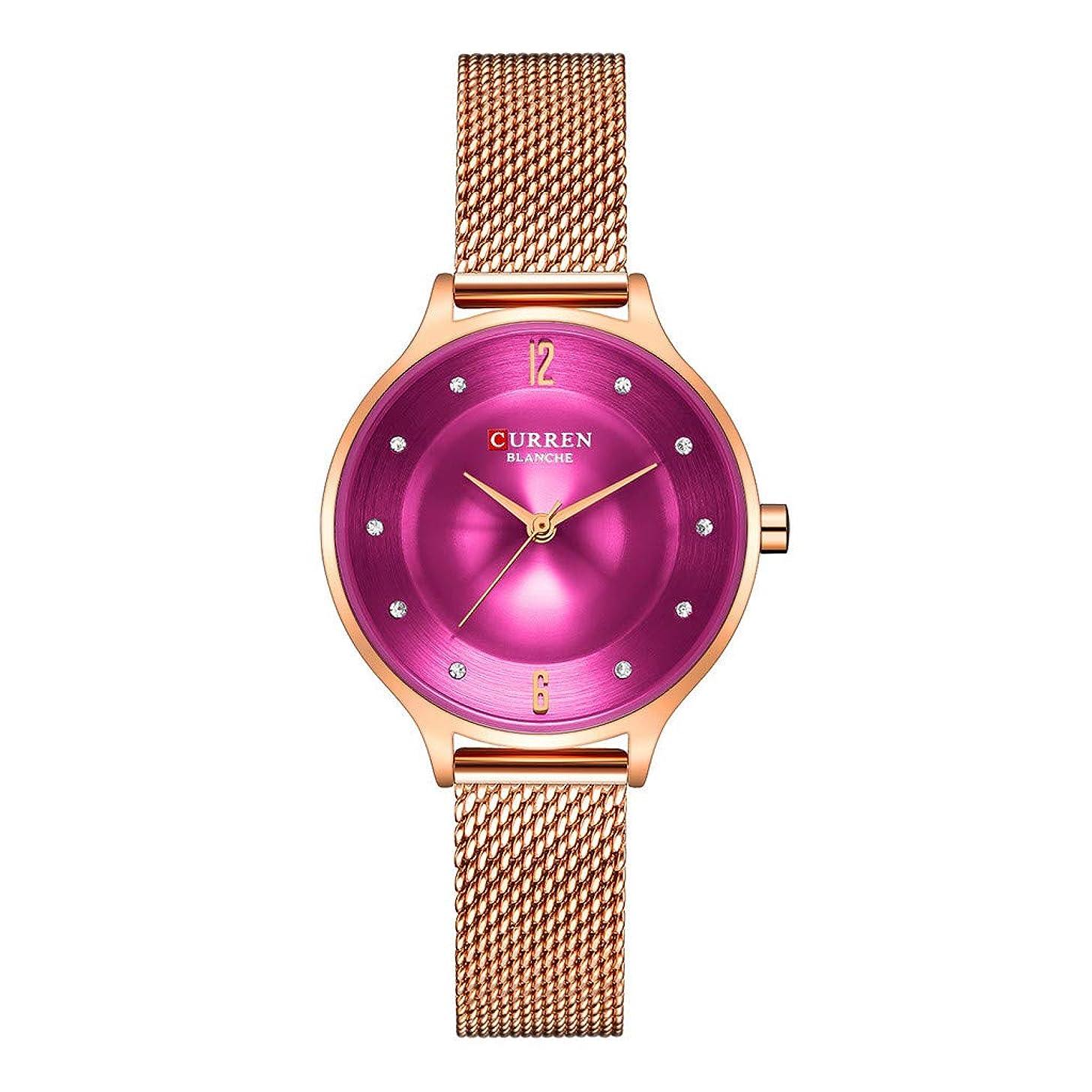 LUCAMORE Creative Simplicity Women Watch Mesh Band Elegant Women Waterproof Watches Ladies Business Wristwatch
