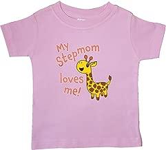 inktastic My Stepmom Loves Me- Cute Giraffe Baby T-Shirt