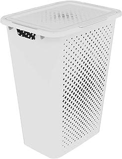 Sundis 4015001 Coffre à linge Pixel 50L Blanc