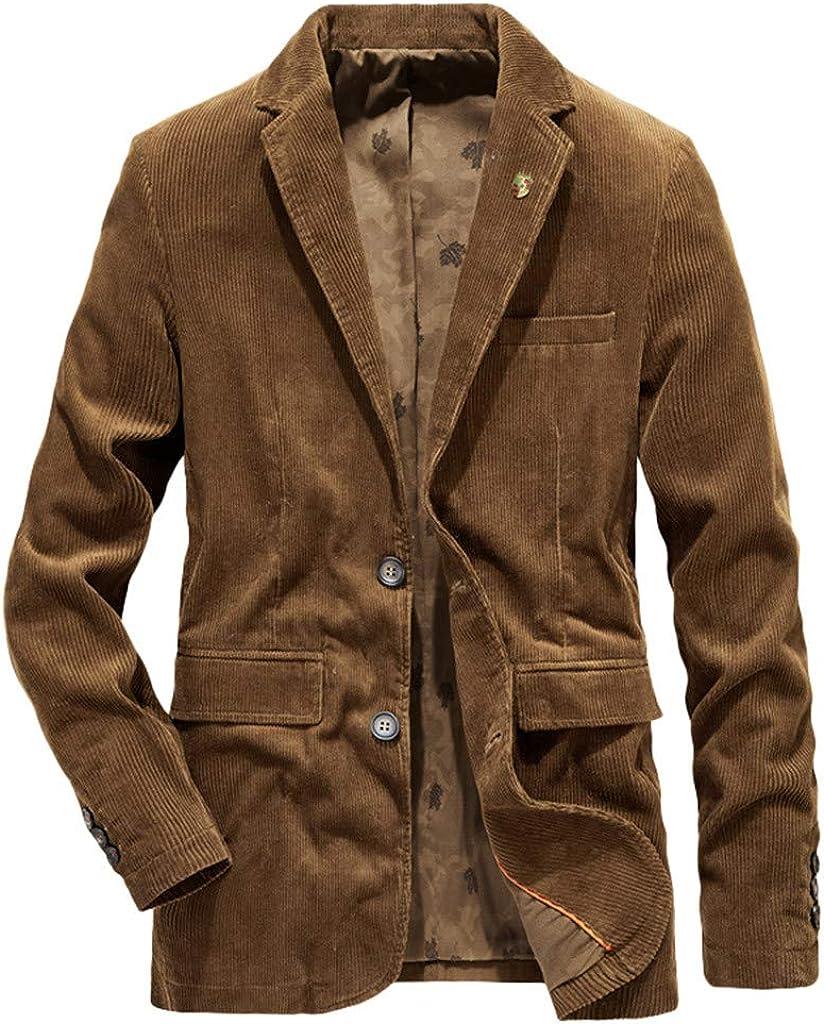 F_Gotal Corduroy Blazer for Max 90% OFF Men Winter 2019 Fashion Casu Autumn Dedication