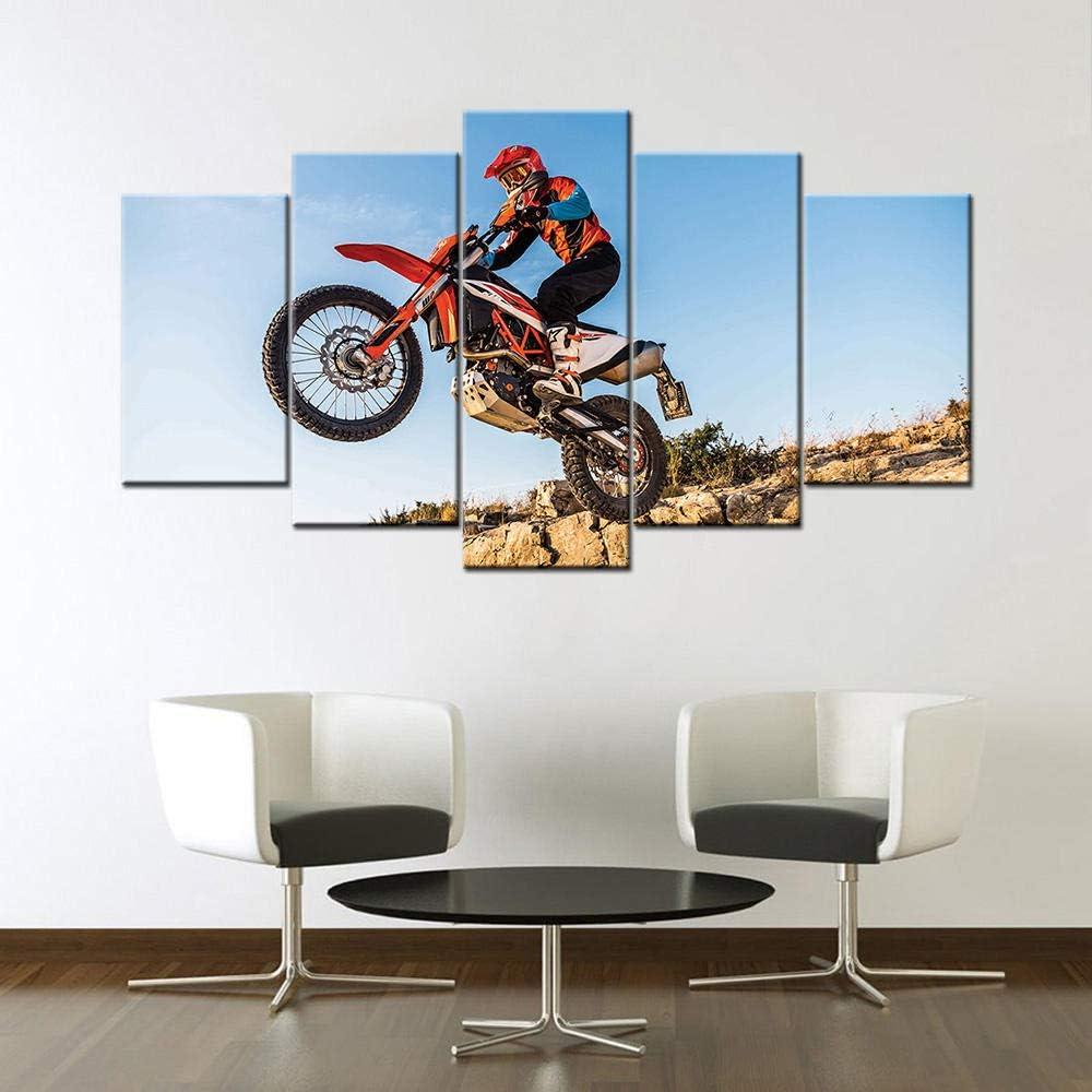 KBJKKL Import Five Consecutive Paintings Super Canvas NEW Bike 5 Piece Pain