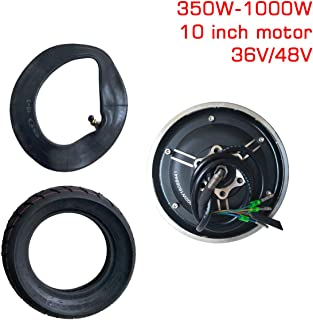 sarach store 10Inch 36V48V350W-1000WMotor Vacuum Tire Conversion kit Electric Scooter Motor Parts Modified DIY Wheel Brushless Motor
