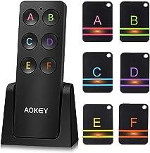 AOKEY Schlüsselfinder, Wireless Key Finder – mit 6 Empfängern, Haustier Tracker,..