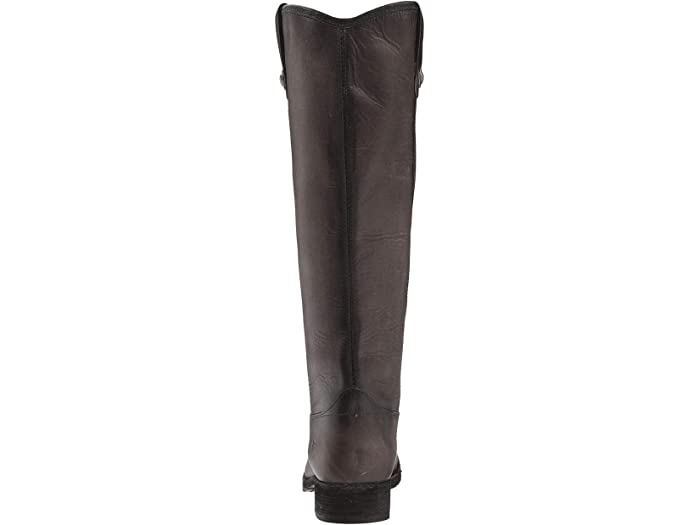 Black 11 M US FRYE Womens Melissa Button Lug Tall Knee High Boot