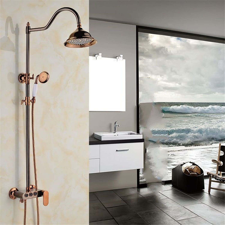 ETERNAL QUALITY Badezimmer Waschbecken Wasserhahn Messing Hahn Waschraum Mischer Mischbatterie Tippen Sie auf die Kupfer Dusche Wasserhahn Dusche Dusche antike verGoldet