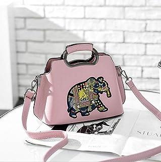 BUKUANG Sac à Bandoulière De Mode Personnalité Dame Paillettes De Couleur Sac à Dos,Pink Femme Sacs portés épaule