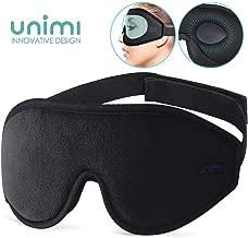 Eye Mask for Sleeping, Unimi 3D Contoured Sleep Mask for Women Men, Super Soft and Comfortable,100% Blockout Light 3D Eye Cover & Blindfold for Travel, Shift Work, Naps (Black))