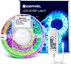 GIDERWEL Home Smart DreamColor LED Strip Lights16.4ft Kit with WiFi LED Controller Work with Alexa,Google Assistant for APP/Voice/Music Sync Control RGB Addressable LED Strip,No HUB Required