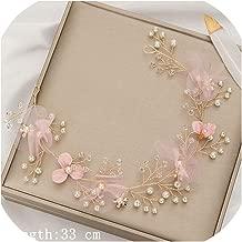 Pearl Headband Women Hair Accessories Bridal Headband Flower Girl Rhinestone Headband For Wedding Hair Jewelry Headpiece,Golden6