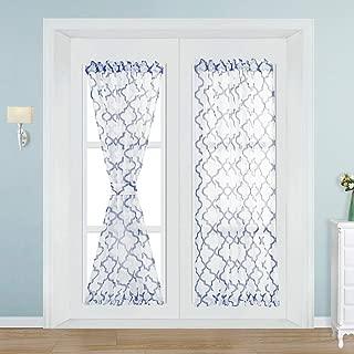 NAPEARL Faux Linen Semi-Sheer Rod Pocket French Door Curtain 1 Panel (54