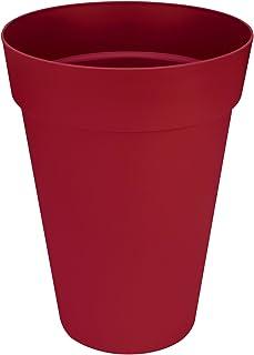 Elho Loft Urban Round High - Macetero redondo, Rojo (Cranberry Red), 35 cm
