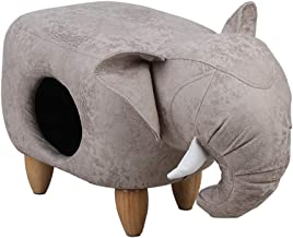 Stool Elephant Shape Multipurpose Pet Waterloo Keep Warm Assembly Smooth Comfortable Simple Modern Gray,2 sizes Furniture (Color : GRAY, Size : B-74x43x37cm)