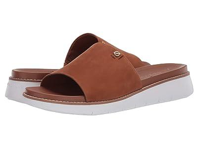 Cole Haan Zerogrand Global Slide Sandal (British Tan Nubuck/Optic White) Women