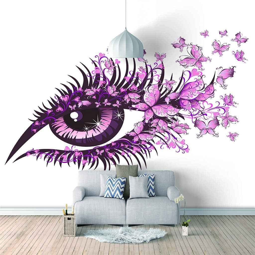 HWCUHL Popular Mural Children'S Room Poster – New products, world's highest quality popular! Pink Canv Butterfly Eyes