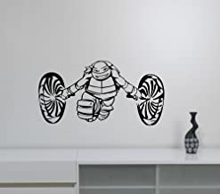 Teenage Mutant Ninja Turtles Michelangelo Wall Sticker Vinyl Decal Video Game Decorations for Home Kids Boys Room Bedroom Playroom Cartoon Decor nts3