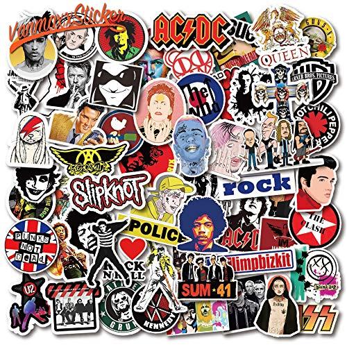 YOUYOU Rock Band Star Music Cool Sticker impermeable PVC calcomanía para ordenador...