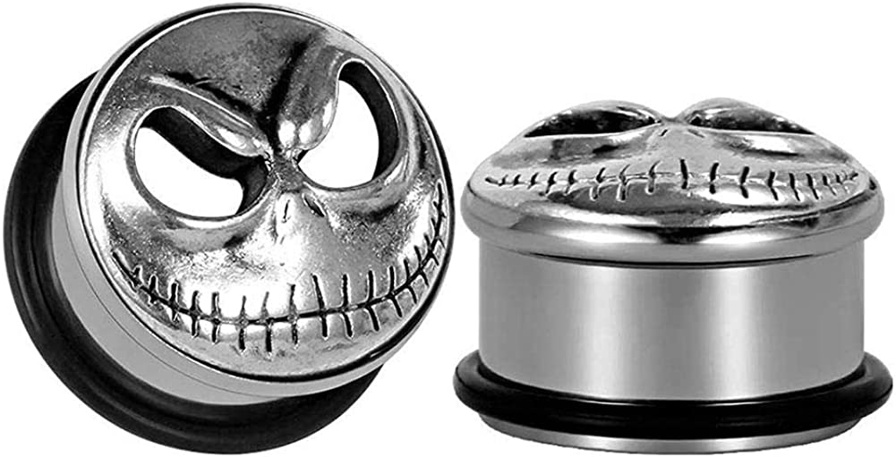 Arardo 1 Pair 316L Stainless Steel Screw Fit Flesh Tunnel Ear Plugs Tunnels Gauges Stretcher Body Piercings Jewelry
