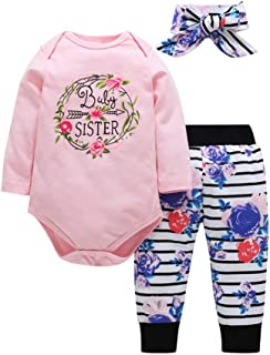 Fairy Baby Toddler Girl Floral Outfit Clothes 3pcs Bodysuit+Long Pant+Headband Set