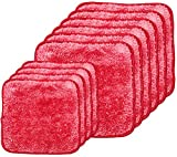 Campanelli's PuppyFur Microfiber Towels - 10-Piece Set - Super Soft, Gentle, Plush Cleaning Cloths for Makeup Removal, Dusting, Electronics, Cars and More - Machine Washable and Dryer Safe (Red)