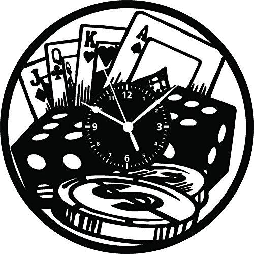 Wanduhr Vinyl LP 33U Instant Karma Geschenk Vintage Handmade–Tisch Poker Kartenspiel Turnier Bluff