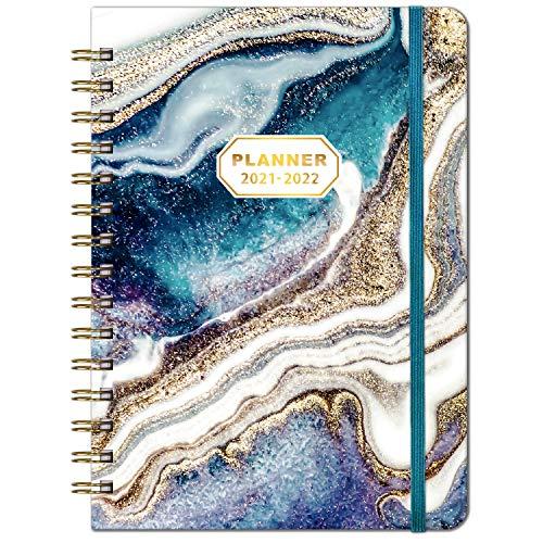 2021-2022 Dagboek – A5 Week to View Diary van juli 2021 tot juni 2022, 2021-2022 Hardcover Dagboek met Binnenzak, Twin…