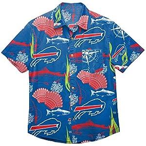 Buffalo Bills NFL Mens Floral Button Up Shirt - XXXL