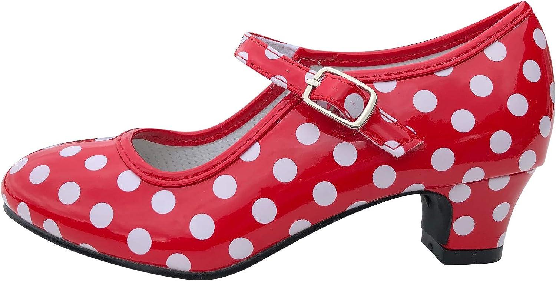 La Senorita Flamenco Shoes Red White