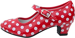 La Senorita Spanische Flamenco Schuhe - Rot Weiß